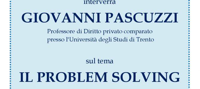 Il problem solving nelle professioni legali – Incontro con Giovanni Pascuzzi