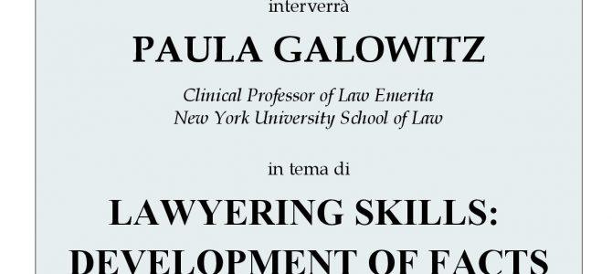 A lezione di Lawyering skills insieme a Paula Galowitz (NYU)