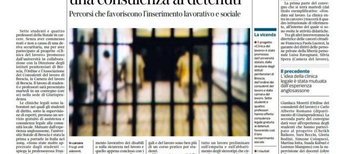 Rassegna stampa sul progetto in carcere